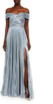 ZUHAIR MURAD Azdorado Off-the-Shoulder Silk Plisse Gown