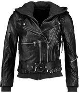 R 13 Moto Hooded Leather Jacket