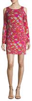 Trina Turk Deon Printed Cold Shoulder Dress