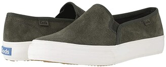Keds Double Decker Suede (Forest Green Suede) Women's Slip on Shoes