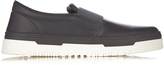 Valentino Bi-colour slip-on leather trainers