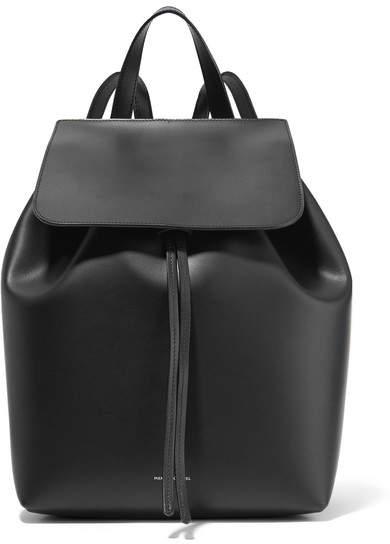 Mansur Gavriel Leather Backpack - Black