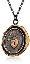 Pyrrha Bronze Heart Lock Talisman Necklace