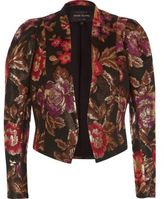 River Island Womens Black jacquard puff sleeve jacket