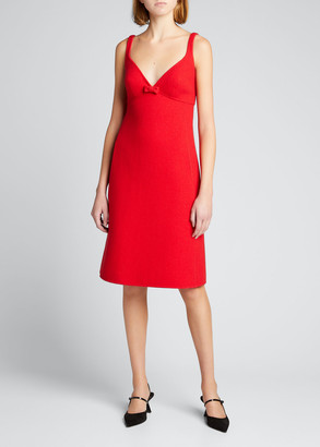 MARC JACOBS, RUNWAY Camisole Wool Slip Dress with Bow Detail