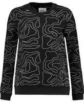Zoe Karssen Embroidered Cotton-Blend Jersey Sweatshirt
