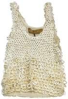 Zhor & Nema Cream Cotton Embellished Top