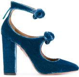 Aquazzura Sandy pumps - women - Leather/Velvet - 35