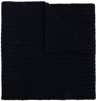 Moncler Ribbed Knitted Scarf