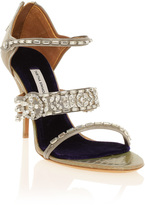 Tabitha Simmons Fitzgerald Crystal Python Heels