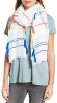 Rebecca Minkoff Women's Rainbow Stripe Oblong Tassel Scarf
