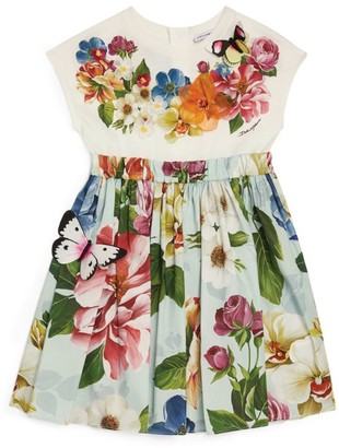 Dolce & Gabbana Kids Floral Applique Dress (8-12 Years)