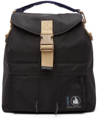 Lanvin Black Duvet Backpack
