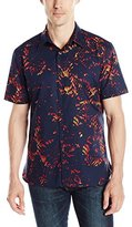 Perry Ellis Men's Exclusive Large Multi Color Print Shirt