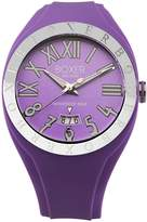 Boxer Milano Men's BOX 40 VIOLET Roman Numerals Luminous Violet Date Watch