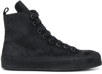 Ann Demeulemeester High-Top Lace-Up Sneakers
