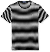 Polo Ralph Lauren Striped Cotton-jersey T-shirt - Black