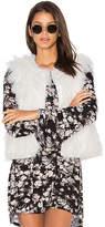 Cupcakes And Cashmere Nelda Faux Fur Vest in White