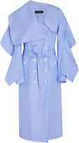 Burberry Cotton-Chambray Draped Dress