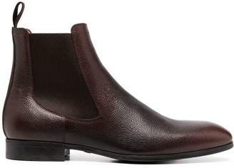 Santoni grained Chelsea boots