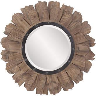 Howard Elliott Hawthorne Round Mirror, Natural