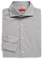 Isaia Regular-Fit Gingham Checkered Dress Shirt