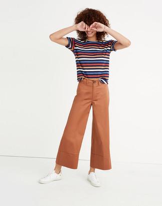 Madewell Langford Wide-Leg Crop Pants in Sateen