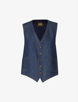 Beyond Retro Pre-loved Lee contrast-stitch denim waistcoat