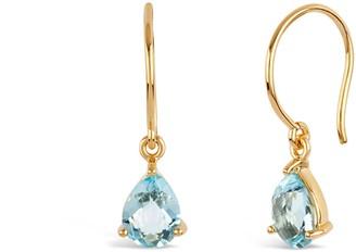 Dinny Hall Gold Gem Drop Blue Topaz Drop Earrings