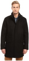 Andrew Marc Stanford Pressed Wool Car Coat with Removable Quilted Bib