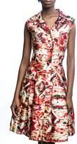 Oscar de la Renta Multi-Colored Dress