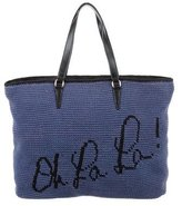 Rebecca Minkoff Leather-Trimmed Knit Tote