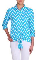 Nygard Collection Tie Front Blouse