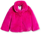 Milly Minis Faux-Fur Jacket, Size 4-7