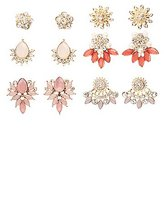 Charlotte Russe Embellished Ear Jacket & Stud Earrings - 6 Pack
