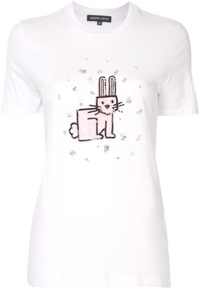 Markus Lupfer Sequin Jewel Bunny cotton T-shirt