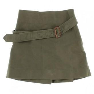 Celine Khaki Cotton Skirt for Women