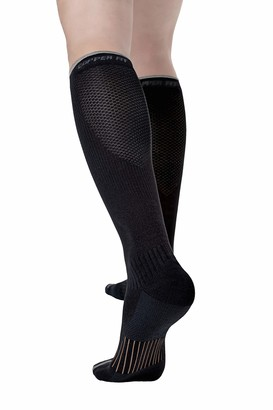 Copper Fit Unisex-Adult's 2.0 Easy-Off Knee High Compression Socks