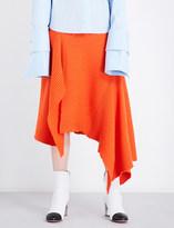 Marques Almeida Asymmetric merino wool midi skirt