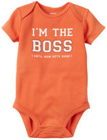 Carter's I'm The Boss Collectible Bodysuit