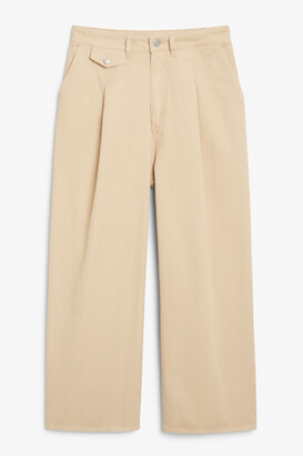 Monki Front pleat jeans