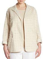 Lafayette 148 New York, Plus Size Ramira Fringed Jacket