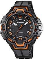 Calypso Unisex Quartz Watch with Black Dial Analogue Display and Black Plastic Strap K5687/3