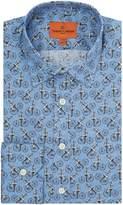 Simon Carter Men's Penny Farthing Print Shirt