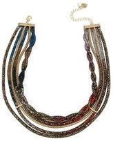 Betsey Johnson Confetti Multi Stone Tube Collar Necklace