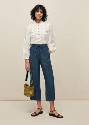 Lattice Print Trouser