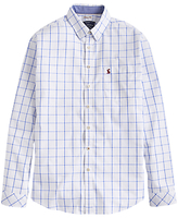 Joules Welford Windowpane Check Classic Fit Shirt, Blue Overcheck