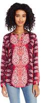 Lucky Brand Women's Paisley Popover Tunic