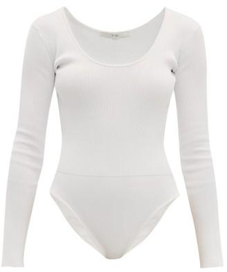Tibi Scoop-neck Ribbed Bodysuit - Ivory