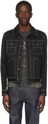 Sankuanz Black Denim Studded Jacket